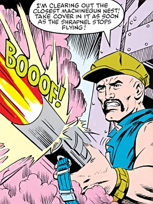 Gung-Ho - G.I. Joe - Marvel comics - Grenade launcher