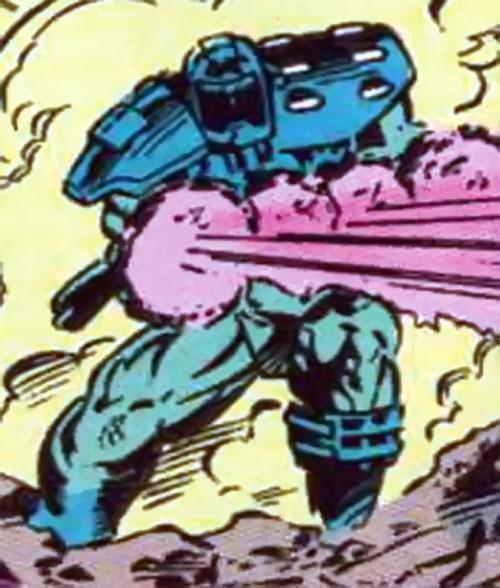 Gunshot of the Extremists (JLA enemy) ( DC Comics) firing his gun