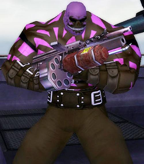 Gunstrap (City of Villains character generator) with gun