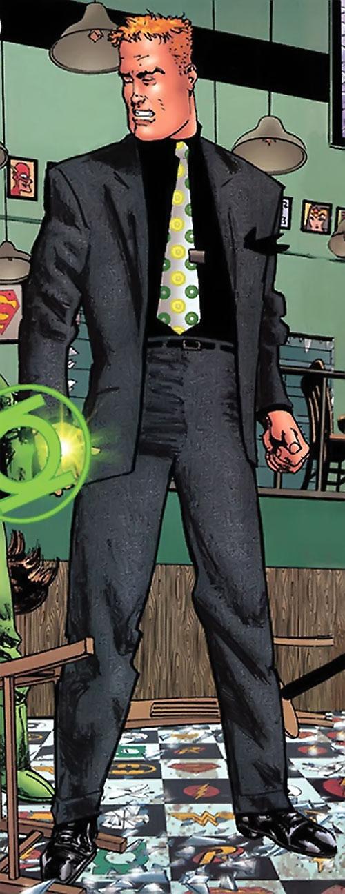 Guy Gardner (DC Comics) in a grey suit