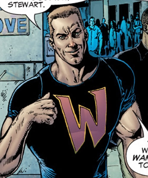 Guy Gardner (DC Comics) with a W T-shirt
