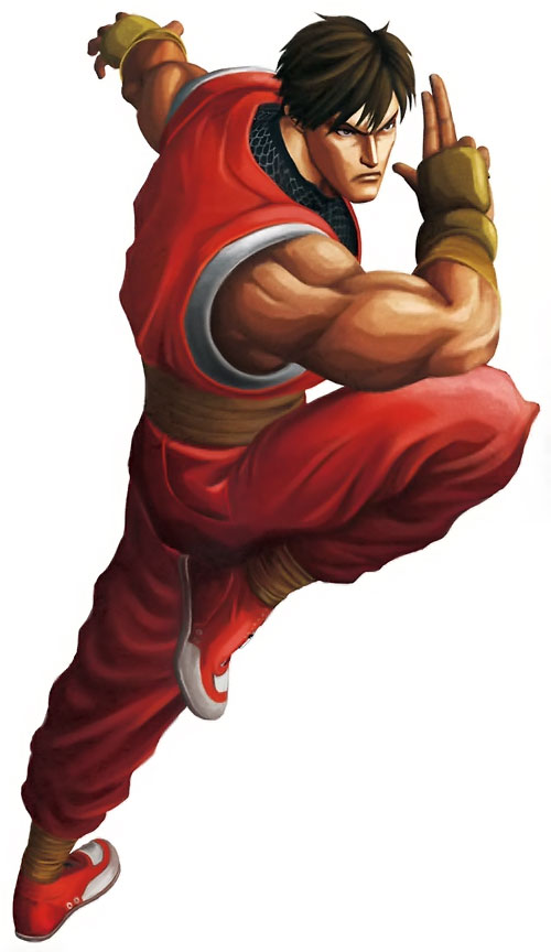 Guy the ninja (Final Fight and Street Fighter video games) ready for battle
