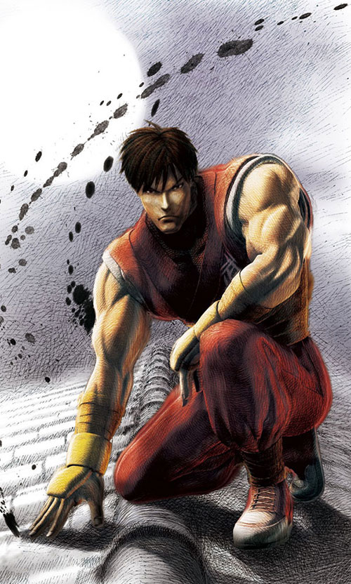 Guy the ninja (Final Fight and Street Fighter video games) splashy art