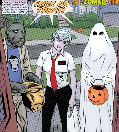 Gwen Dylan (iZombie DC Comics) Halloween trick or treat