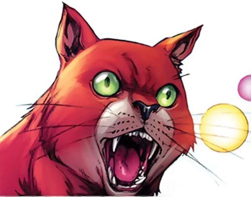 Hairball of the Pet Avengers (Marvel Comics) yelling