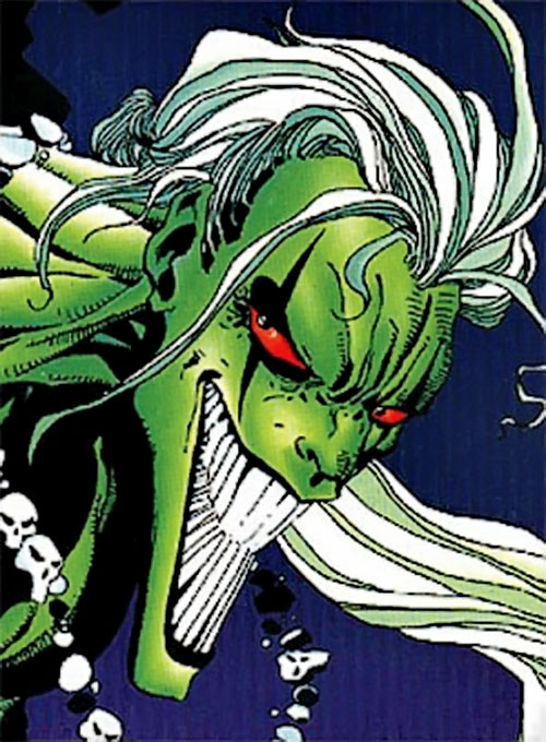 Halloween Jack (X-Men 2099 enemy) (Marvel Comics) face closeup