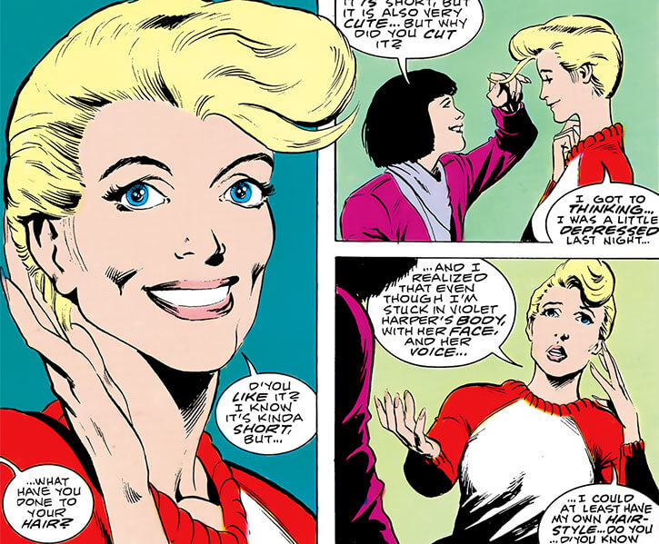 Halo (DC Comics) (Gabrielle Doe) (Outsiders) pompadour haircut