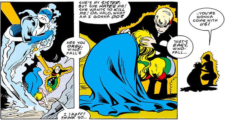 Halo (DC Comics) (Gabrielle Doe) (Outsiders) and Windfall