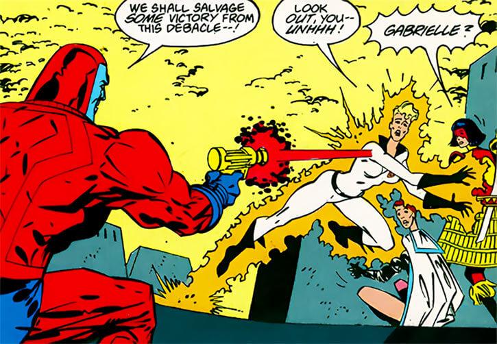 Halo (DC Comics) (Gabrielle Doe) (Outsiders) shot comatose