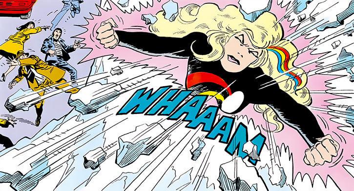 Halo (DC Comics) (Gabrielle Doe) (Outsiders) body smashing thru ice