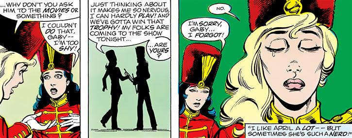 Halo (DC Comics) (Gabrielle Doe) (Outsiders) April band uniforms
