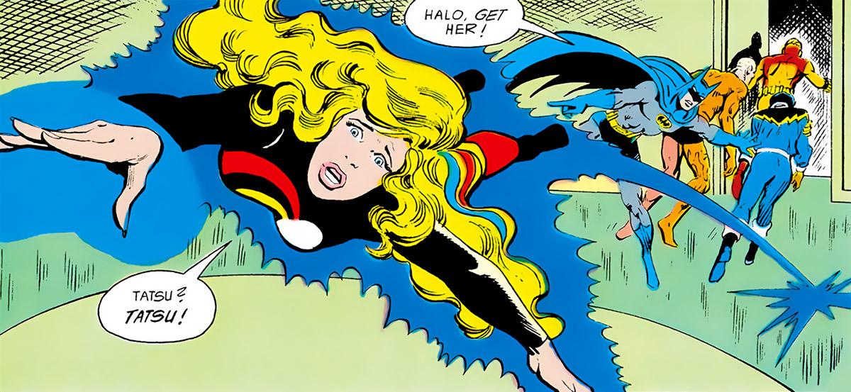 Halo (DC Comics) (Gabrielle Doe) (Outsiders) blue aura rescue