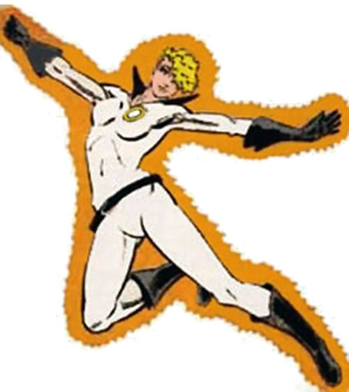 Halo of the Outsiders (DC Comics) in the white costume
