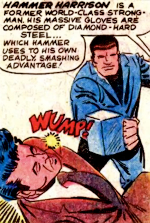 Hammer Harrison (Marvel Comics) throws a punch