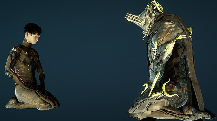 Hammerfall - Warframe - Example tenno character - Excalibur umbra - Scarfalibur