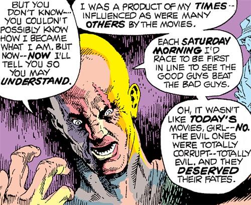 Hangman (Marvel Comics) (Harlan Krueger) unmasked face rant