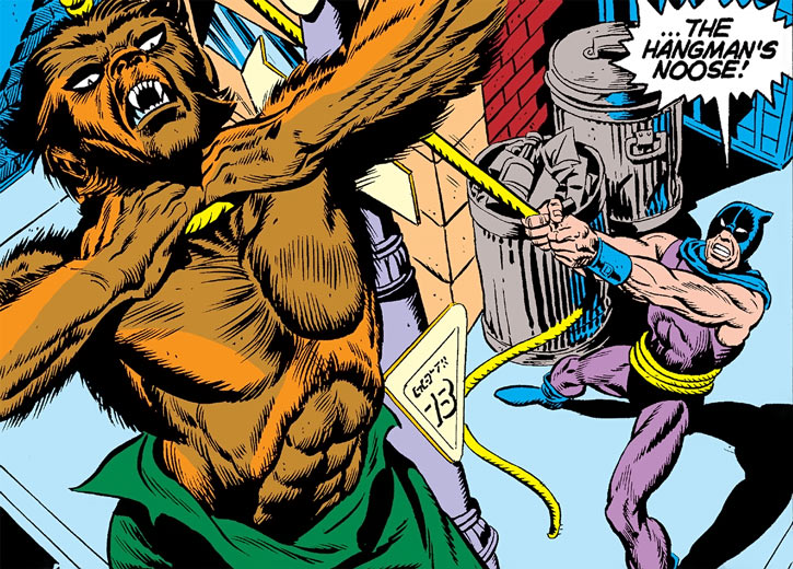 Hangman (Marvel Comics) (Harlan Krueger) hanging the werewolf