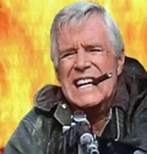 Hannibal (John Peppard in The A-Team) and an explosion