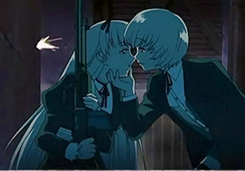 Hansel and Gretel (Black Lagoon) in darkness