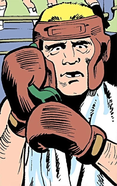 Hardhat (Demolition Team) (DC Comics) in boxing gear