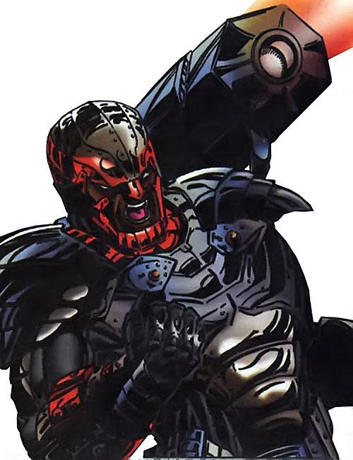 Hardware (Milestone Comics) modernized armor with shoulder cannon