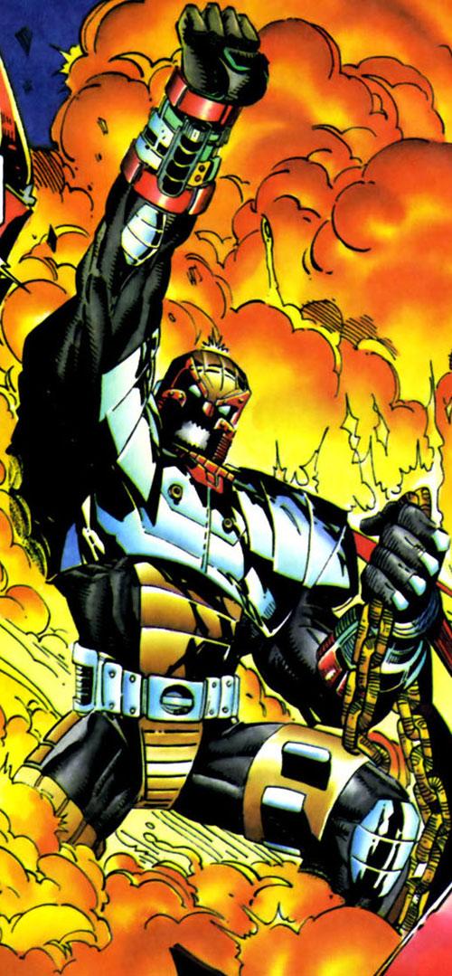 Hardware (Milestone Comics) in fire and smoke
