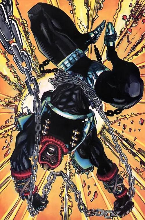 Hardware (Milestone Comics) chains and explosion