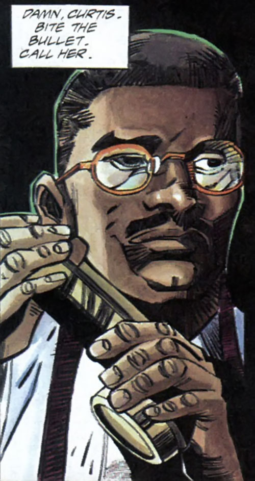 Hardware (Milestone Comics) face closeup with glasses