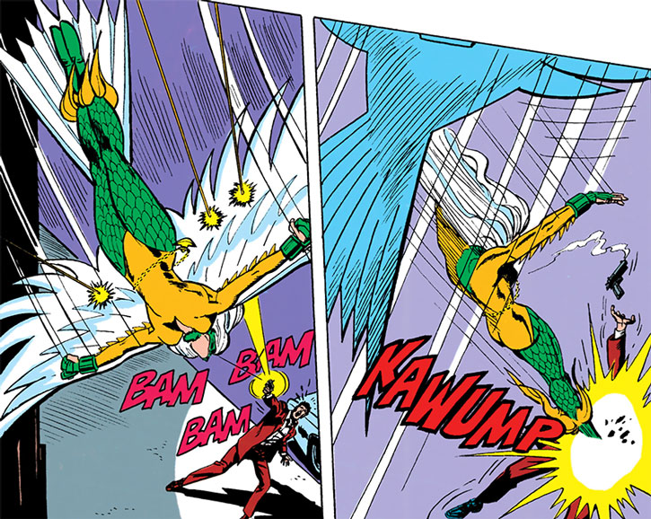 Harpy (Iris Phelios) vs. a gunman