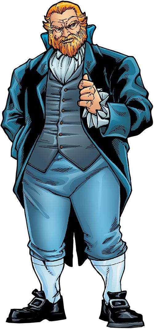 Harry Leland - Hellfire Club- Marvel Comics - X-Men enemy - Handbook art