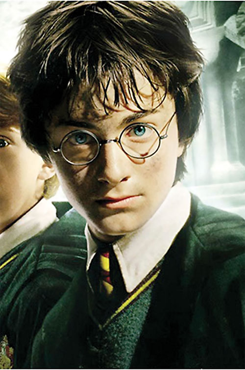 Harry Potter (Daniel Radcliffe in HP and the Chamber of Secrets) movie poster detail