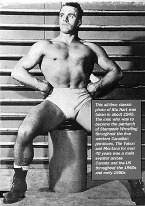 Stu Hart B&W photo