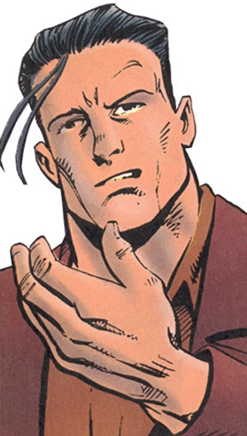 Hauer of the Super-Soldiers (Marvel Comics UK) face closeup