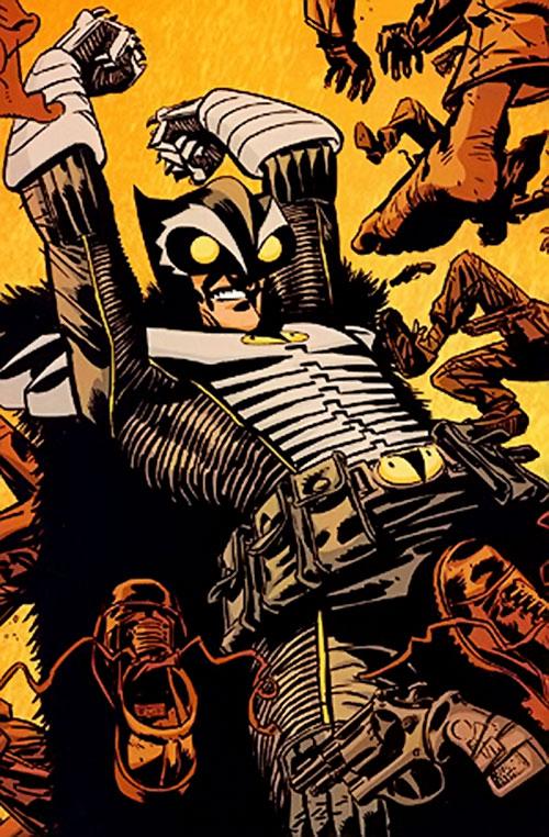 Hawk Owl (Ultimate Marvel Comics) disperses thugs