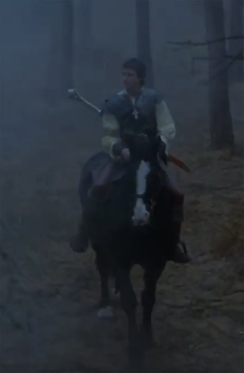 Hawk the Slayer - 1980s Fantasy movie - Horse forest mist