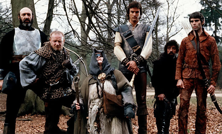 Hawk the Slayer - 1980s Fantasy movie - Team in forest
