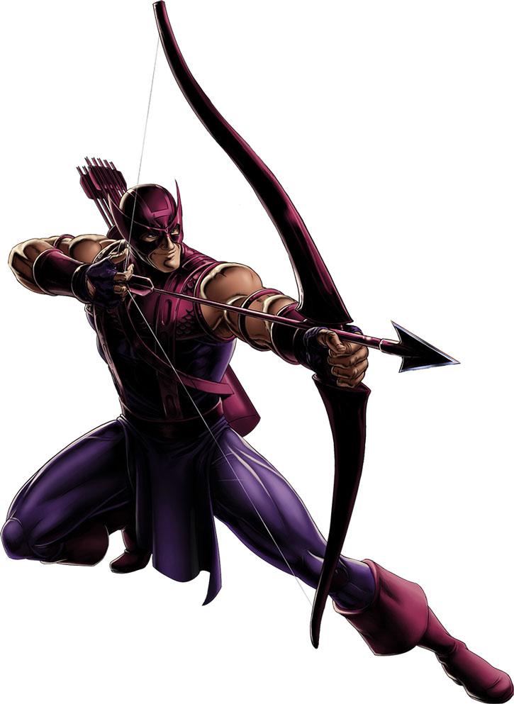 Hawkeye (Clint Barton) in a dynamic archery pose