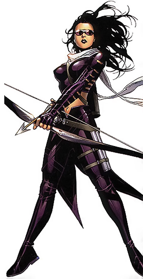 Hawkeye of the Young Avengers (Kate Bishop) (Marvel Comics) with her bow