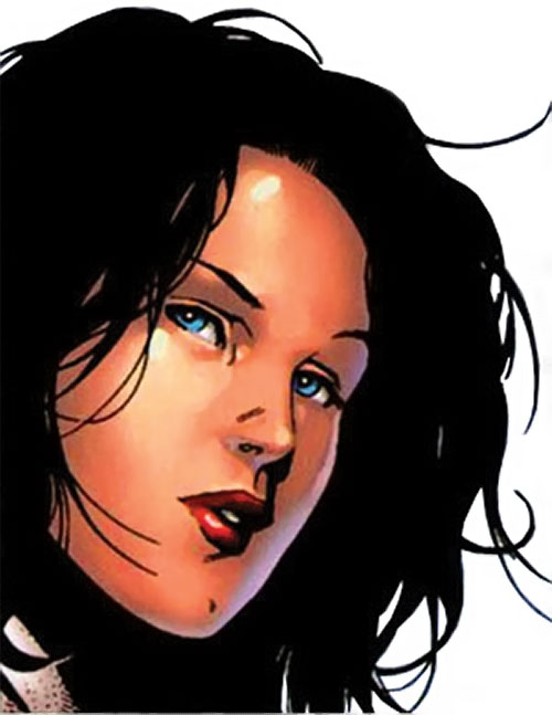 Hawkeye of the Young Avengers (Kate Bishop) (Marvel Comics) face closeup