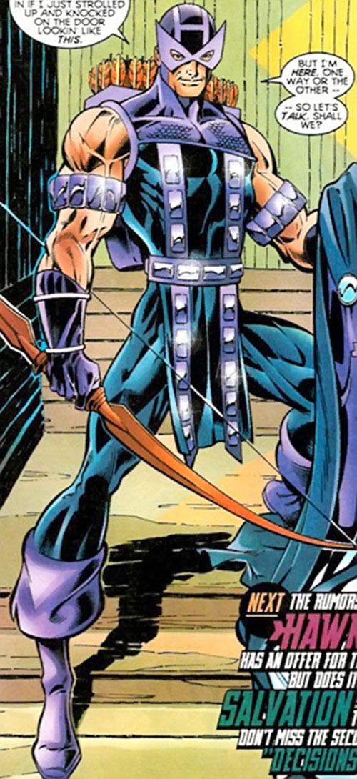 Hawkeye (Marvel Comics) approaches the Thunderbolts