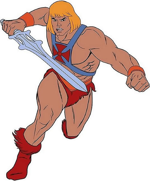 He-Man (Masters of the Universe cartoon) attacking
