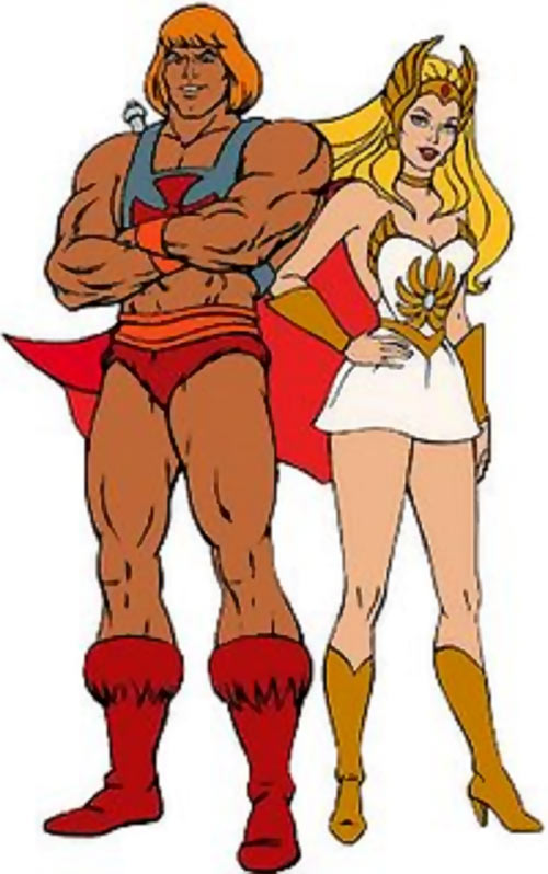 He-Man (Masters of the Universe cartoon) and She-Ra