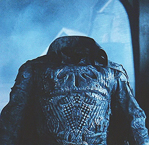The Headless Horseman's armor in Burton's Sleepy Hollow