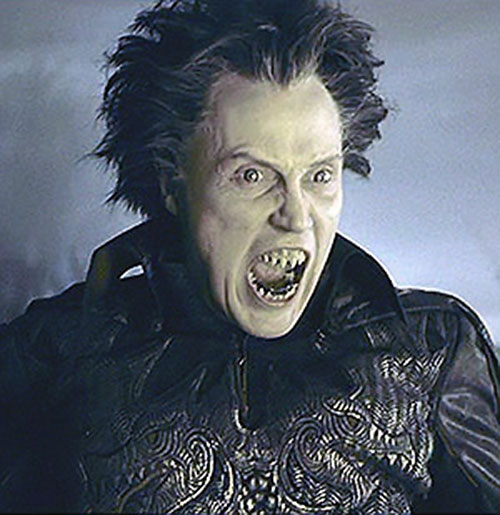 The Headless Horseman's demonic face in Burton's Sleepy Hollow