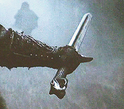 The Headless Horseman's sword in Burton's Sleepy Hollow