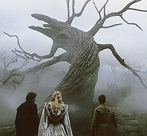 The warped tree in Burton's Sleepy Hollow