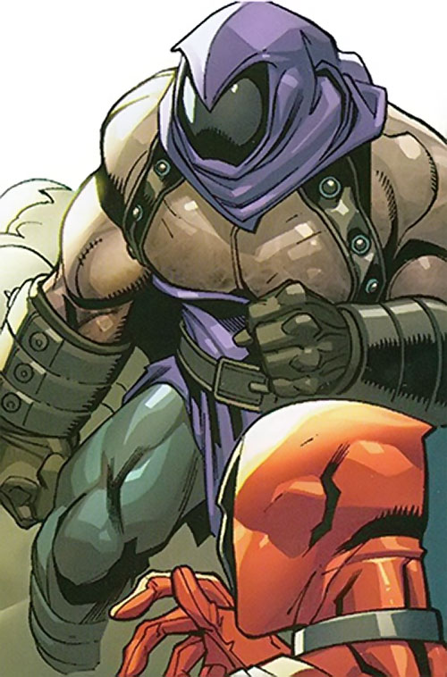 Headsman of the Thunderbolts (Marvel Comics) with the full face visor