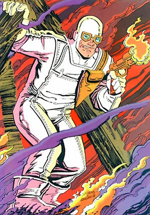 Heat Wave (Flash enemy) (DC Comics) amidst a fire