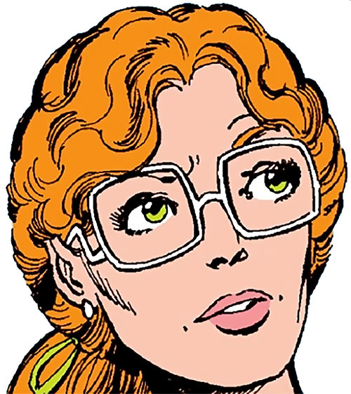 Heather Hudson (Alpha Flight) (Marvel Comics) with her huge glasses