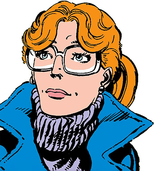 Heather Hudson (Alpha Flight) (Marvel Comics) with a purple turtleneck